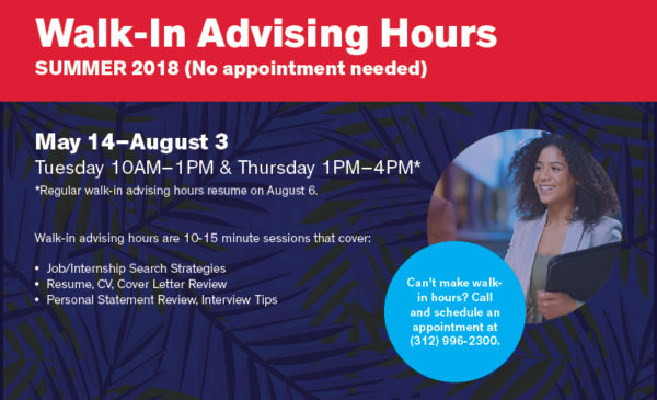 Career Services Walk-In Advising Hours